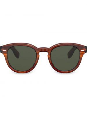 Солнцезащитные очки с логотипом - коричневые Oliver Peoples