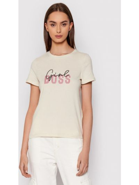 T-shirt - beżowa Vero Moda