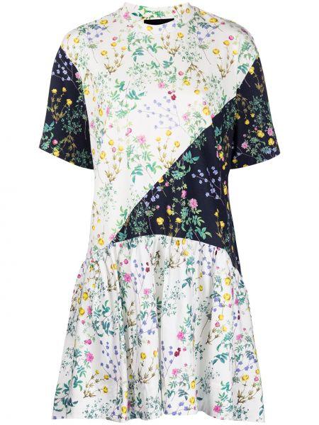 Платье мини в цветочный принт Cynthia Rowley