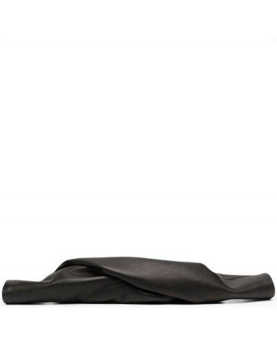 Черная кожаная сумка на молнии Rick Owens
