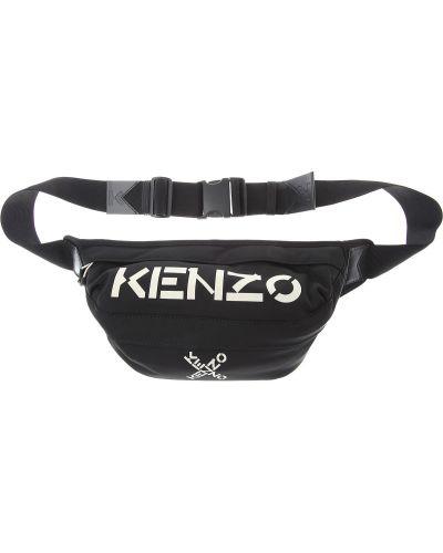 Czarny plecak z nylonu z paskiem Kenzo