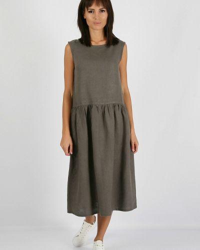 Прямое серое платье А-силуэта Morandi