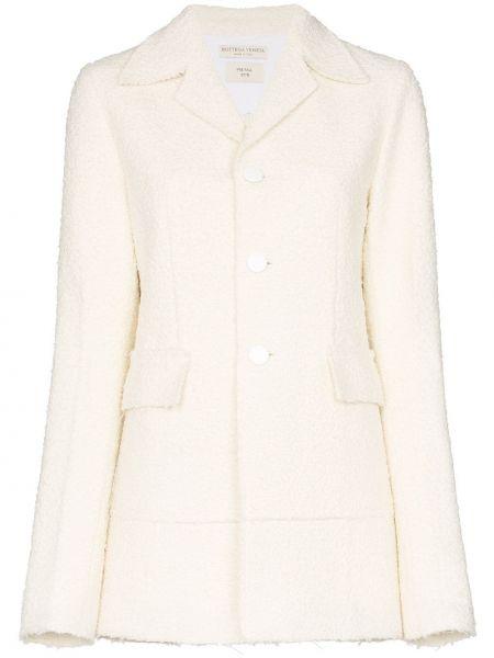 Однобортный удлиненный пиджак с карманами с воротником Bottega Veneta