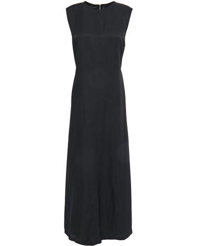 Sukienka midi z wiskozy - czarna Helmut Lang