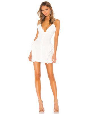 Пуховое белое платье мини Nbd