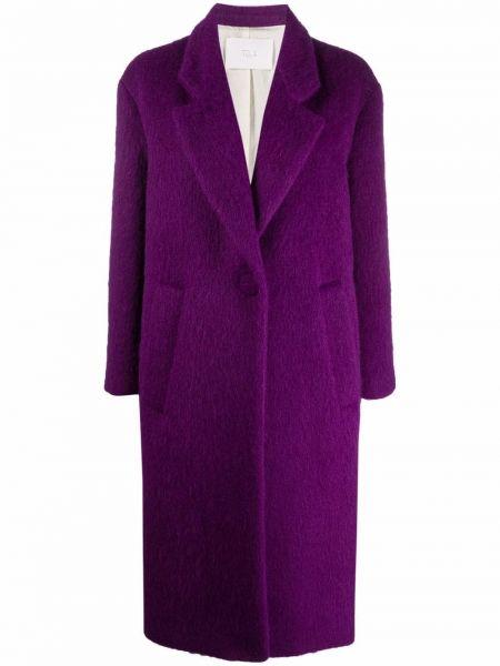 Фиолетовое пальто длинное Tela