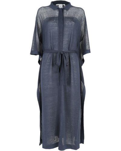 Niebieska sukienka Agnona