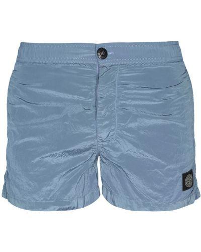 Пляжные шорты с карманами серые Stone Island