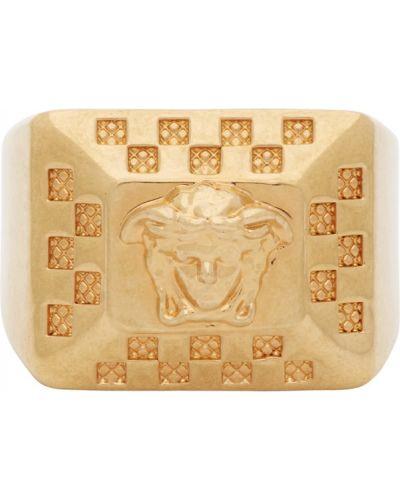 Pierścień plac złoto Versace