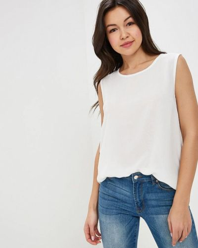 Блузка без рукавов белая весенний Sh