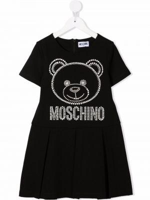 Sukienka mini - czarna Moschino Kids