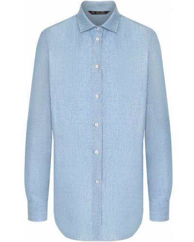 Блузка с длинным рукавом прямая хлопковая Loro Piana