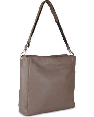Кожаная сумка дорожняя бежевый Ecco