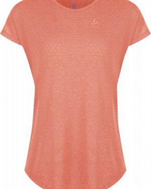 Футбольная розовая прямая спортивная футболка для бега Odlo