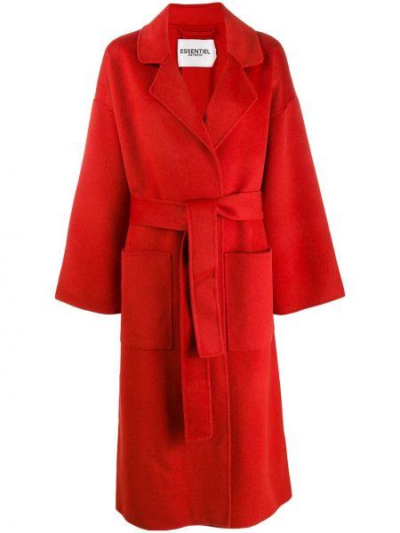Длинное пальто без воротника шерстяное Essentiel Antwerp