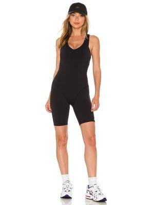 Czarny body sportowe z nylonu Alo