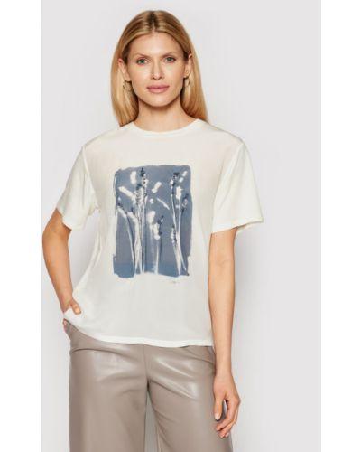 Beżowy t-shirt Weekend Max Mara