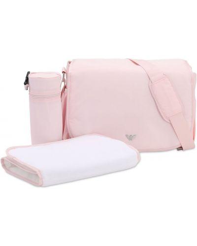 Różowa torebka z nylonu oversize Emporio Armani