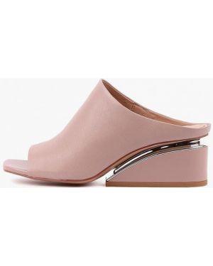 Сабо кожаные розовый Sasha Fabiani