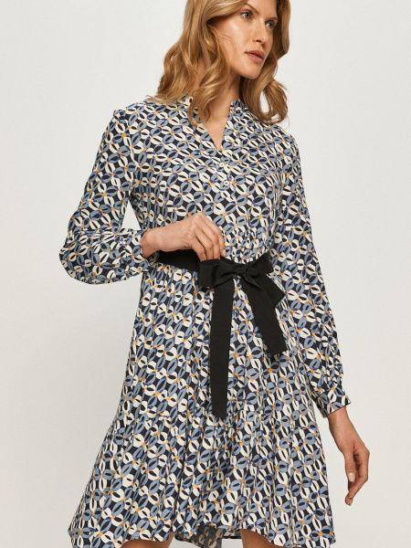 Тонкое с рукавами платье с вырезом Max&co