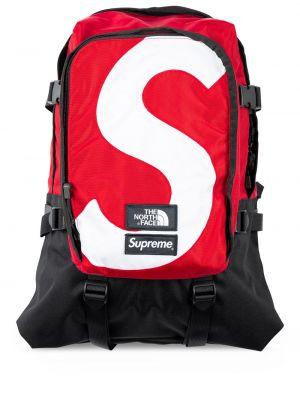 Czarny plecak klamry z nylonu Supreme