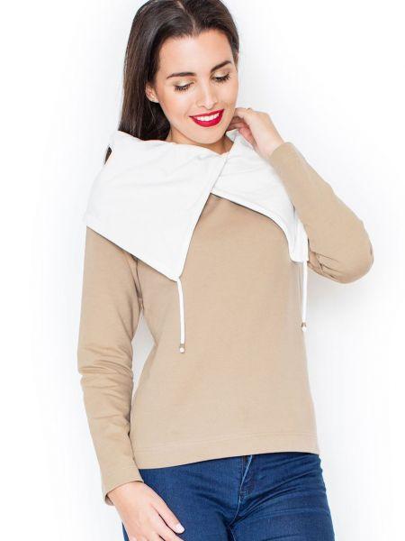 Beżowa bluza bawełniana Katrus