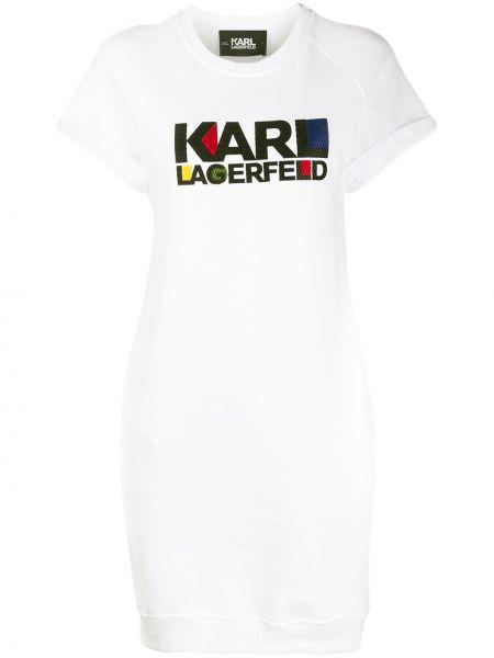 Свитер короткий белый Karl Lagerfeld