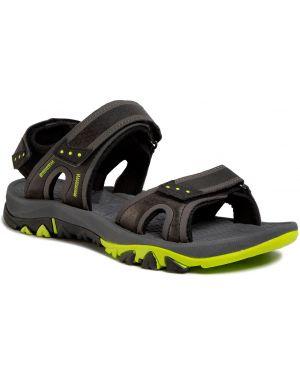 Klasyczne czarne sandały skorzane Elbrus