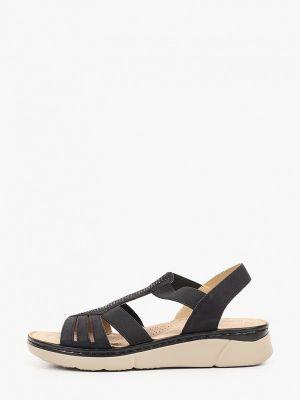 Черные кожаные сандалии Francesco Donni