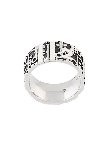Czarny pierścień Christian Dior