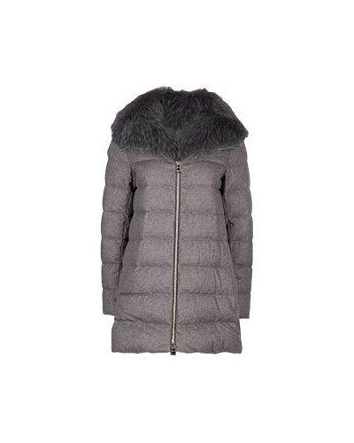 Куртка кашемировая коричневая Herno