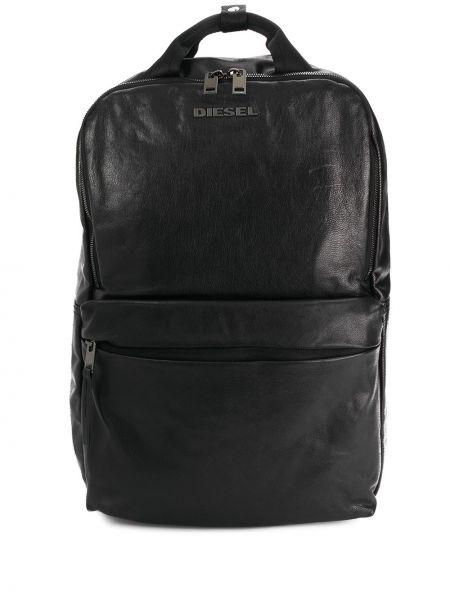 С ремешком черный кожаный рюкзак Diesel