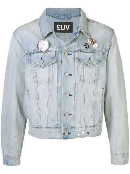 Классическая синяя джинсовая куртка прозрачная Luv Collections