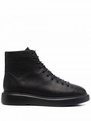 Черные ботинки на платформе Camper