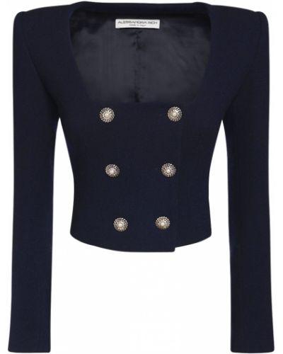 Шерстяная куртка двубортная на кнопках Alessandra Rich