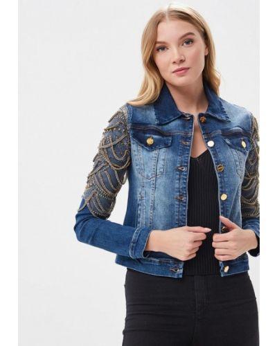 Джинсовая куртка весенняя синий Lança Perfume