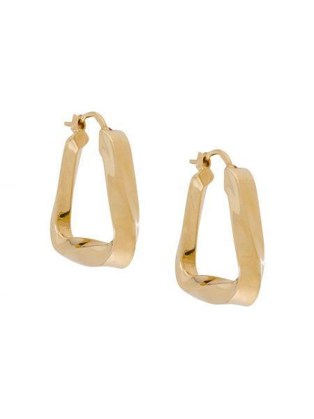 Золотистое серьги-кольца золотое Bottega Veneta