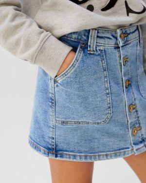 Джинсовая юбка прямая маленький Mango Kids