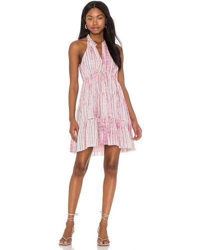 Розовое платье мини с люрексом с подкладкой Saylor