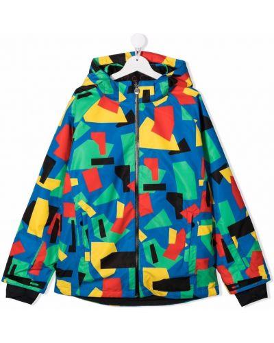 Niebieski długi płaszcz z kapturem Stella Mccartney Kids