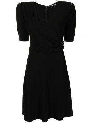 Черное платье с V-образным вырезом Emporio Armani