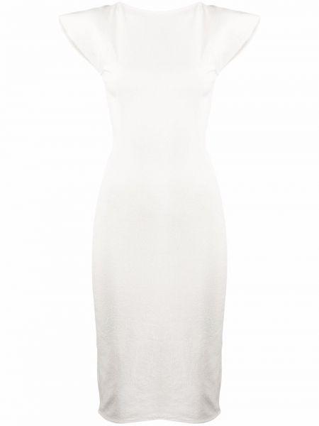 Sukienka midi bawełniana - biała Rick Owens