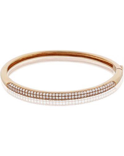 Серебряный браслет с бриллиантом золотой Montebello