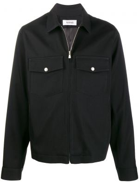 Черная рубашка на кнопках Adish
