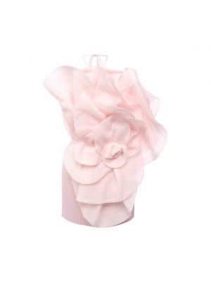 Платье мини с открытой спиной - розовое Magda Butrym