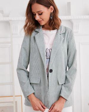 Пиджак вельветовый с накладными карманами Zaful
