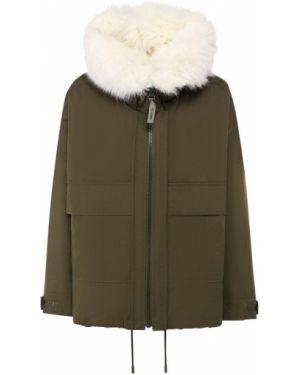 Куртка двусторонняя - зеленая Army Yves Salomon
