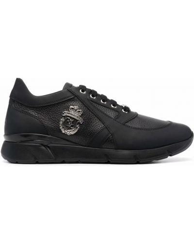 Кожаные кроссовки - черные Billionaire
