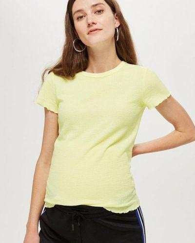 Желтое поло Topshop Maternity