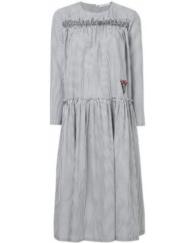 Платье миди в полоску со складками Vivetta